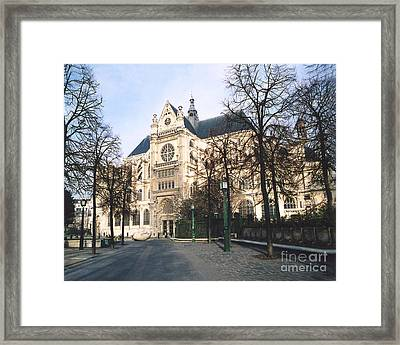Paris Gothic Churches Cathedrals - Paris Saint Eustach Cathedral  Framed Print by Kathy Fornal