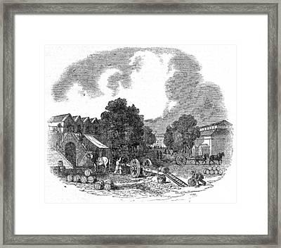 Paris Halle Aux Vins Framed Print by Granger