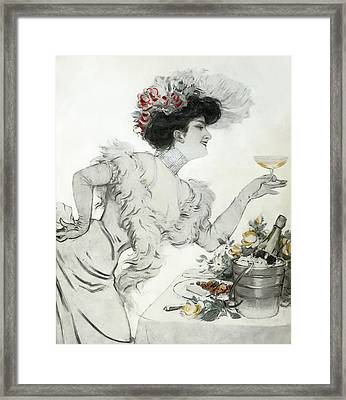 Paris Holiday  1904 Framed Print by Daniel Hagerman