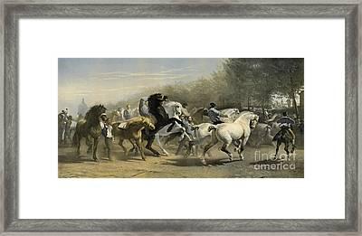 Paris Horse Market 1855 Framed Print