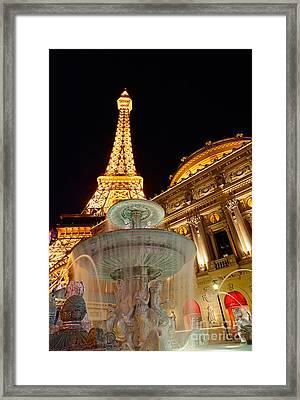 Paris Hotel And Casino In Las Vegas Framed Print