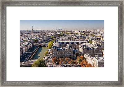 Paris In Autumn Framed Print by Pierre Leclerc Photography