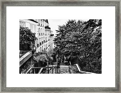 Paris In Black And White Framed Print by Georgia Fowler