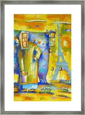 Paris In My Heart Framed Print by Semenyuk Evgeny