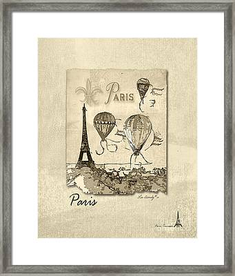 Paris In Sepia Framed Print