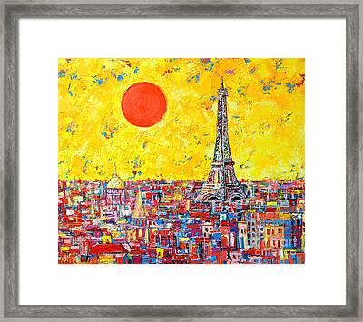 Paris In Sunlight Framed Print