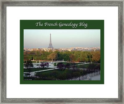 Paris In The Fall With Fgb Border Framed Print
