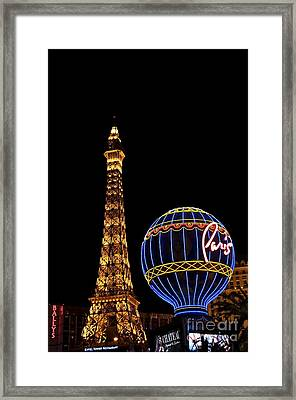 Paris In Vegas Framed Print