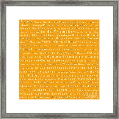 Paris In Words Framed Print