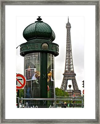 Framed Print featuring the photograph Paris by Ira Shander