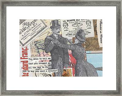 Paris Isn't The City Of Love Framed Print
