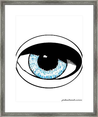 Paris Jackson - Colours 2 Framed Print by Mudiama Kammoh