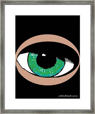 Paris Jackson - Colours Framed Print by Mudiama Kammoh