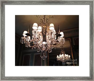Paris Laduree Dreamy Sparkling Twinkling Chandelier Photo - Paris Crystal Opulent Elegant Chandelier Framed Print by Kathy Fornal
