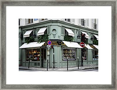 Paris Laduree Macaron French Bakery Patisserie Tea Shop - Laduree Bonaparte - The Laduree Patisserie Framed Print
