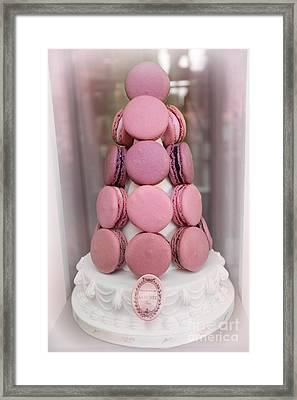 Paris Laduree Pink Macarons - Paris Pink Laduree Window Display - Paris Pink Macarons Window Display Framed Print
