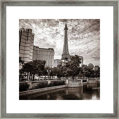 Paris Las Vegas Framed Print