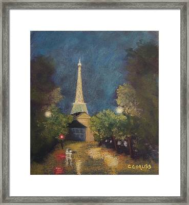 Paris Lights Framed Print