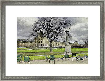 Paris Louvre 1 Framed Print by Yury Malkov