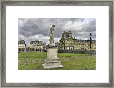 Paris Louvre 2 Framed Print by Yury Malkov