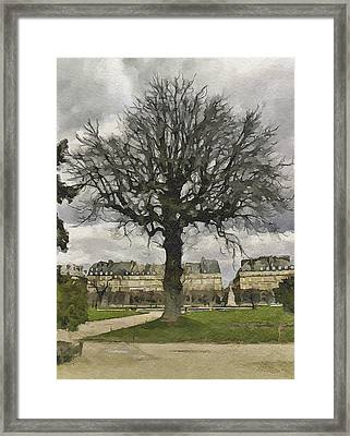 Paris Louvre 3 Framed Print by Yury Malkov
