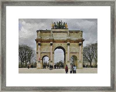 Paris Louvre 4 Framed Print by Yury Malkov