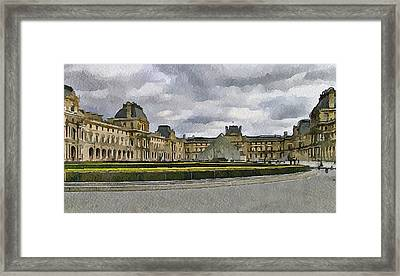 Paris Louvre 5 Framed Print by Yury Malkov