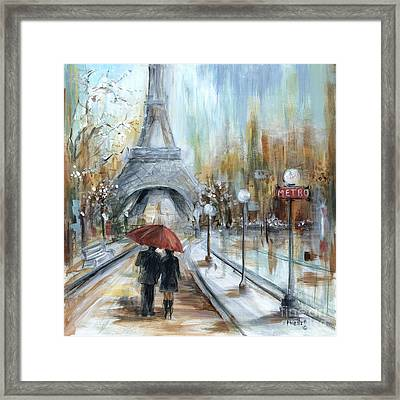 Paris Lovers I Framed Print by Marilyn Dunlap