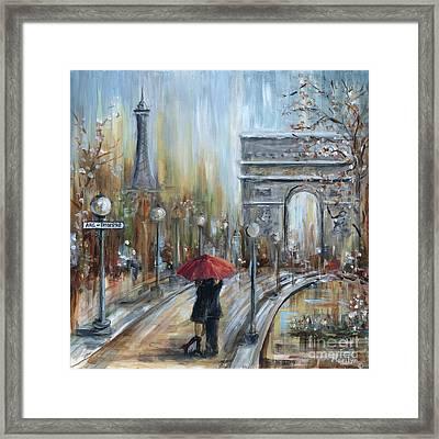 Paris Lovers II Framed Print