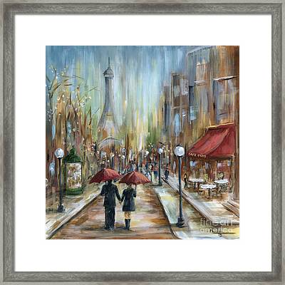 Paris Lovers Ill Framed Print