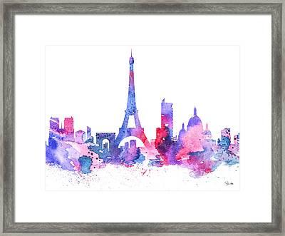 Paris Framed Print by Watercolor Girl