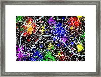 Paris Map Framed Print by Stephen Younts