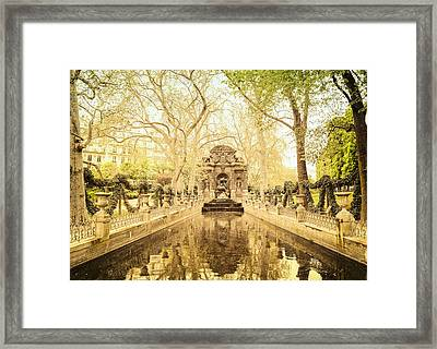 Paris - Medici Fountain - Garden Of Luxembourg Framed Print by Vivienne Gucwa