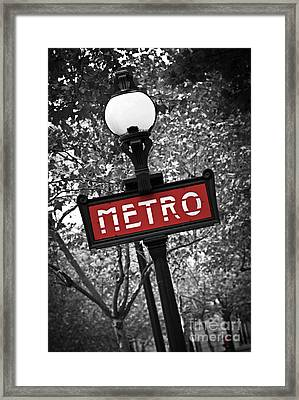 Paris Metro Framed Print by Elena Elisseeva