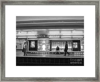 Paris Metro - Franklin Roosevelt Station Framed Print