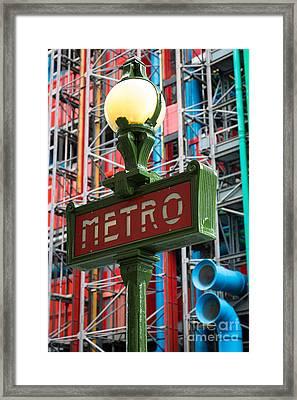 Paris Metro Framed Print by Inge Johnsson