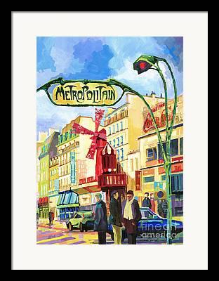 Moulin Framed Prints