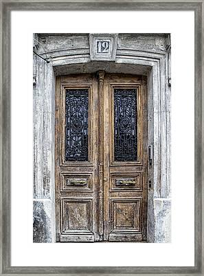 Paris Montmartre Door Number 12 Framed Print by Georgia Fowler