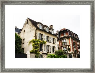 Paris Montmartre Houses Framed Print by Georgia Fowler