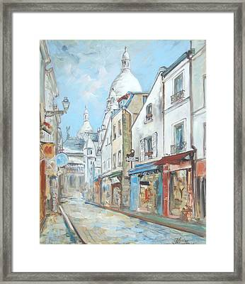 Paris - Montmartre Framed Print