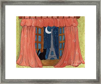 Paris Moonlight Framed Print by Lee Owenby