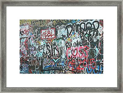 Paris Mountain Graffiti Framed Print by Kathy Barney