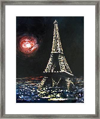 Paris Night Framed Print by Cheryl Del Toro
