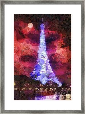Paris Night Framed Print by Mo T