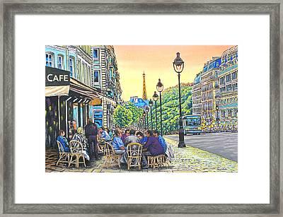 Paris Nights Framed Print by David Linton