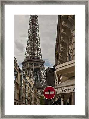 Paris - No Entry Graffiti Framed Print by Georgia Fowler