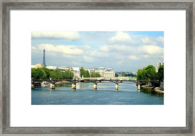 Framed Print featuring the photograph Paris On The Seine by Kay Gilley