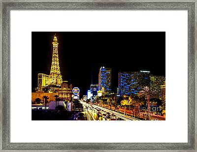 Welcome To Vegas Framed Print by Az Jackson
