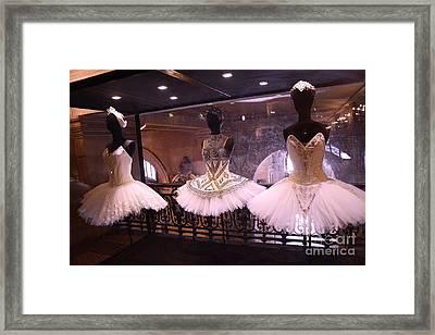 Paris Opera House Ballerina Costumes - Paris Opera Garnier Ballet Art - Ballerina Fashion Tutu Art Framed Print