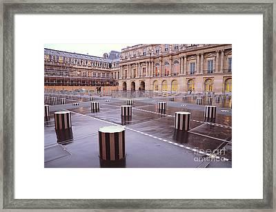 Paris Palais Royal Palace Architecture - Paris Palais Royal Courtyard Columns Framed Print